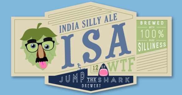 IPA or India Silly Ale beer label from All About Beer