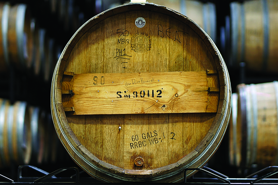 Beer ages in a barrel at The Rare Barrel. Credit: The Rare Barrel